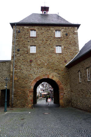 north gate: Werther Tor - historical city gate, Bad Mnstereifel, North Rhine-Westphalia, Germany Editorial
