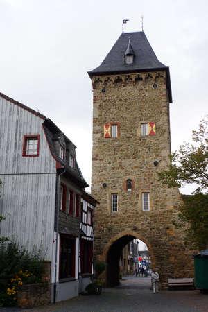 north  rhine westphalia: Orchheimer Gate - historical city gate, Bad Mnstereifel, North Rhine-Westphalia, Germany