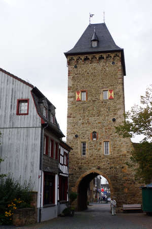 north gate: Orchheimer Gate - historical city gate, Bad Mnstereifel, North Rhine-Westphalia, Germany