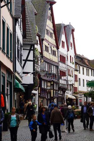 north  rhine westphalia: Half-timbered houses in the historic Old Town, Bad Mnstereifel, North Rhine-Westphalia, Germany
