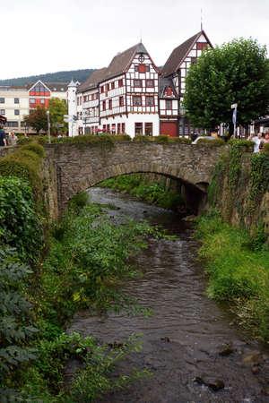 north  rhine westphalia: historic old town, Bad Mnstereifel, North Rhine-Westphalia, Germany
