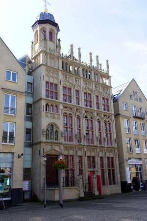 north rhine westphalia: historisches Rathaus mit rekonstruierter Fassade,  Wesel, Nordrhein-Westfalen, Deutschland