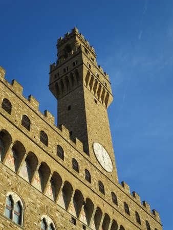 piazza: Palazzo Vecchio an der Piazza della Signoria, Florenz, Toskana, Italien