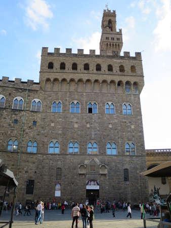 italien: Palazzo Vecchio an der Piazza della Signoria, Florenz, Toskana, Italien