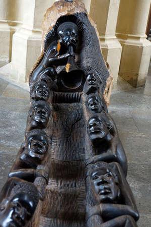 tanzania: Carved boat from Tanzania, Saint James Church