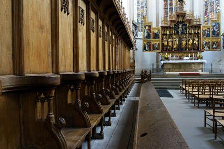 high altar: Choir stalls, Sankt Jakobs Church