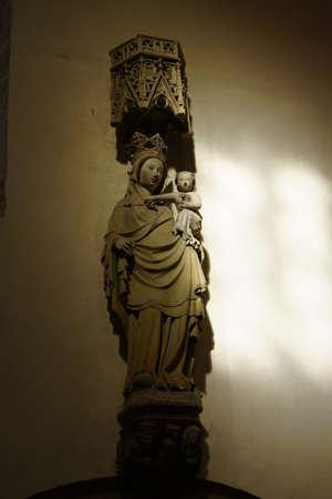 and saint: Franciscan church of Saint Mary