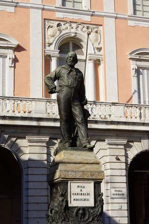 italien: Garibaldi-Denkmal an der Piazza Garibaldi, Pisa, Toskana, Italien Stock Photo