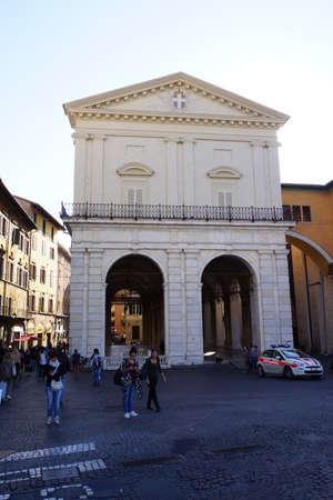 piazza: Locce dei Banchi an der Piazza Septembre, Pisa, Toskana, Italien