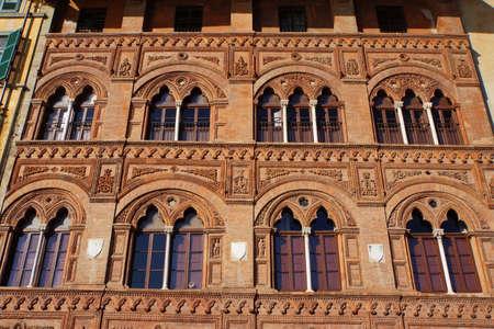 italien: Palazzo Agostini Venerosi della Seta, Pisa, Toskana, Italien Stock Photo