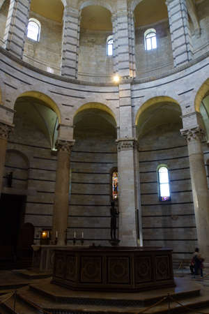 toskana: Baptisterium am Dom zu Pisa, Toskana, Italien