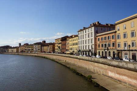 arno: Huser beside the Arno River, Pisa, Tuscany, Germany