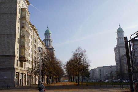 Socialist monumental in the Karl-Marx-Allee