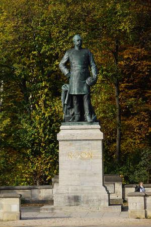 big star: Albrecht von Roon- monument at big star