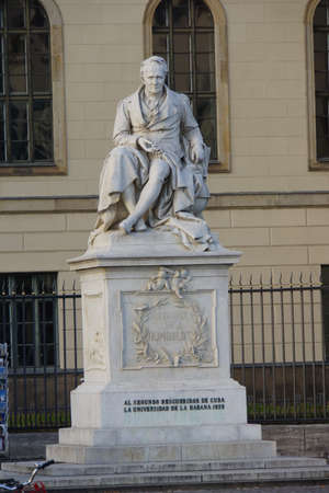 uni: Alexander von Humboldt monument in front of the same university Editorial