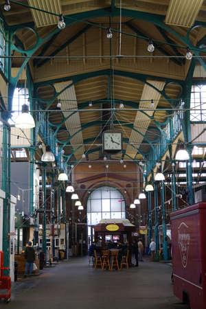 historically: historic market hall in Railway Street in Kreuzberg Editorial