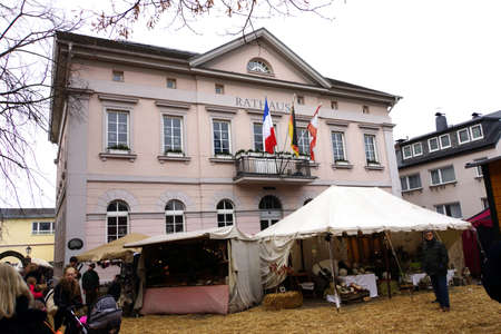old town townhall: Christmas Market in the historic center, Remagen, Rheinland-Pfalz, Germany