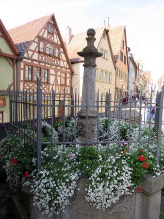 historic Old Town, Rothenburg ob der Tauber, Bavaria, Germany Stock Photo