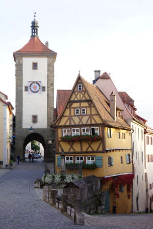 Ploenlein or Siebers Tower, Rothenburg ob der Tauber, Bavaria, Germany