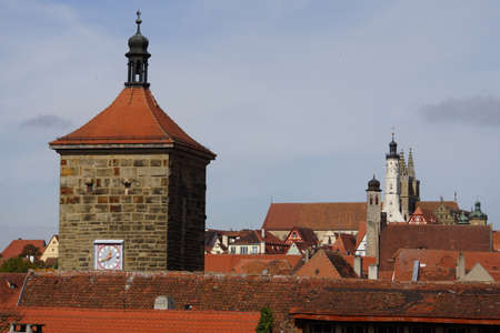 old houses in the historic Old Town, Rothenburg ob der Tauber, Bavaria, Germany