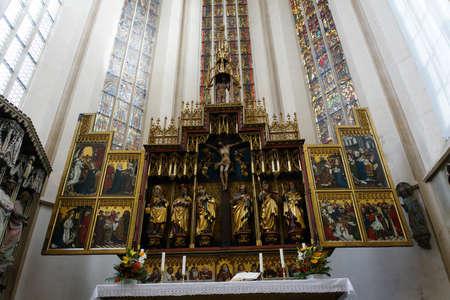 high altar: High altar, St. James Church, Rothenburg ob der Tauber, Bavaria, Germany Editorial