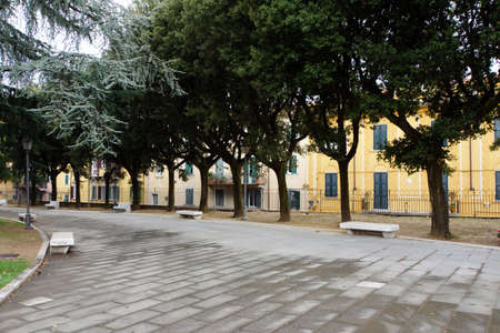 piazza: Piazza Antonio Gramsci, Carrara, Tuscany, Italy Stock Photo