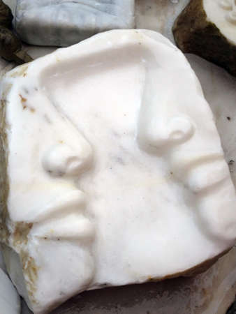 customization: customization ashtray made of marble, Carrara, Tuscany, Italy