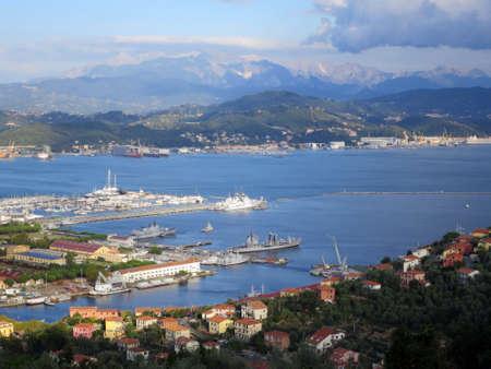 spezia: View of La Spezia, Liguria, Italy Editorial