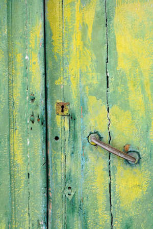 old wooden door: Old wooden door, Riomaggiore, Liguria, Italy Stock Photo