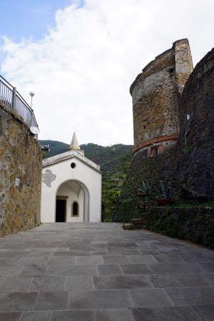 castello: Il Castello - the castle, Riomaggiore, Liguria, Italy Editorial