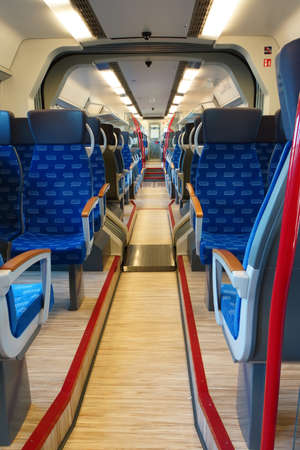 publicly: Talent Train of the British National Express, Neuss, North Rhine-Westphalia, Germany