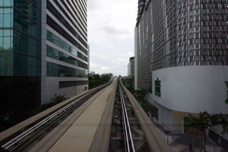 miami florida: Route of leaderless Skytrain, Miami, Florida, USA