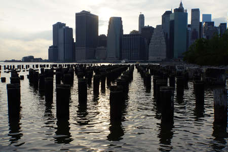in the heights: View from Brooklyn Heights to Manhattan, New York City, USA