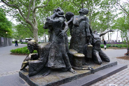 immigrant: Immigrant Monument in Battery Park, New York City, USA