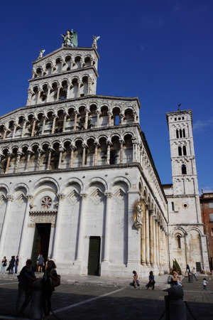 Church of San Michele, Lucca, Tuscany, Italy Editorial