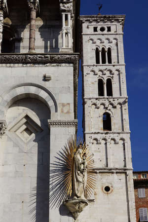 or san michele: Church of San Michele, Lucca, Tuscany, Italy Stock Photo