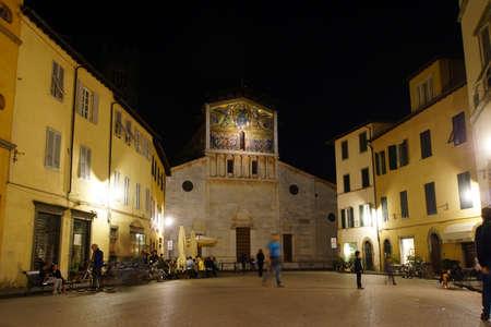 lucca: Church Basilica di San Frediano, Lucca, Tuscany, Italy Editorial