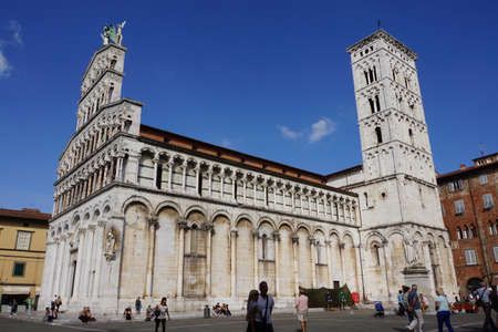 or san michele: Church of San Michele, Lucca, Tuscany, Italy Editorial