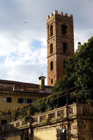 lucca: steeple of Santi Giovanni e Reparata, Lucca, Tuscany, Italy
