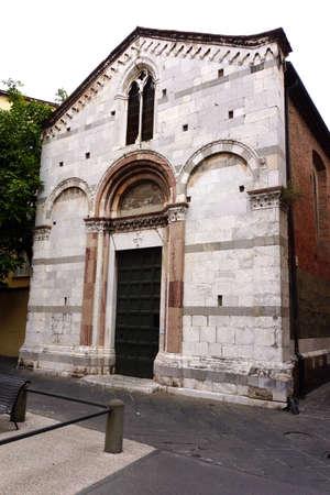 piazza: Church San Giulia in Piazza del Suffragio Stock Photo
