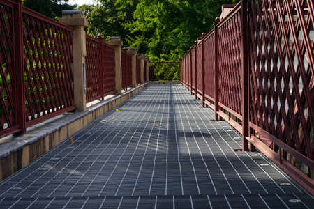 lucca: Pedestrians Bridge, Lucca, Tuscany, Italy