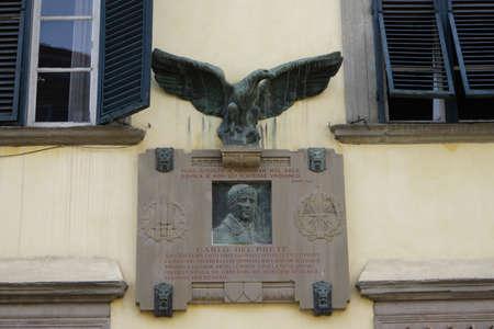 lucca: Flugpionier Carlo del Prete Memorial, Lucca, Tuscany, Italy