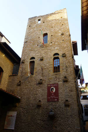 baudenkmal: Dante Museum in the historic Old Town, Florence, Tuscany, Italy