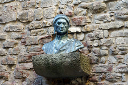 Dante bust on Dante Museum, Florence, Tuscany, Italy