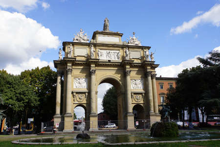 archway: Archway on the Piazza della Liberta, Florence, Tuscany, Italy