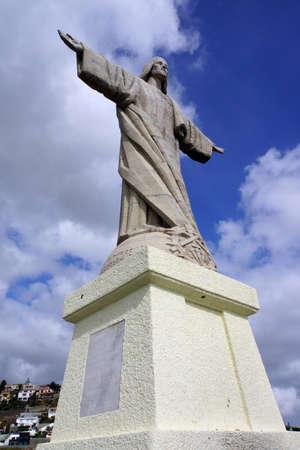 jesus statue: Jesus statue Christo Rei at the Ponta do Garajau, Madeira, Portugal