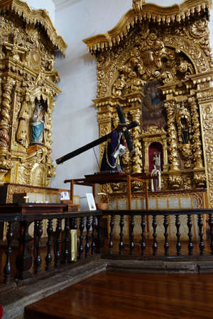 high altar: magnificent altar in the church of Sao Jorge, Madeira, Portugal