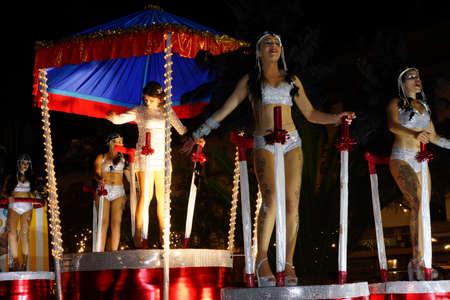 parade: big carnival parade, Funchal, Madeira, Portugal Editorial