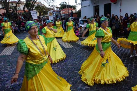 santa cruz: big carnival parade, Santa Cruz, Madeira, Portugal Editorial