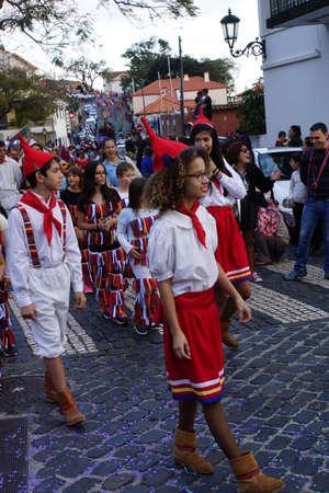 big carnival parade, Santa Cruz, Madeira, Portugal Redakční